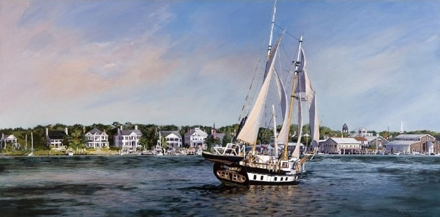 """I'm Home"" - Beaufort Waterfront & MEKA II by Mary Faith Warshaw"
